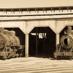 Locomotives au musée ferroviaire de Baquedano