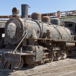 Locomotive au musée ferroviaire de Baquedano